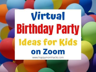 Fun Virtual Birthday Party Ideas for Kids & Teens. Dont let social distancing keep you from celebrating your childs birthday. You can still make it special! #virtual #birthday #kids #kidsparty #kidsactivities #parties buff.ly/3ftevIf