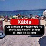 Image for the Tweet beginning: En #Xàbia los #bañistas se