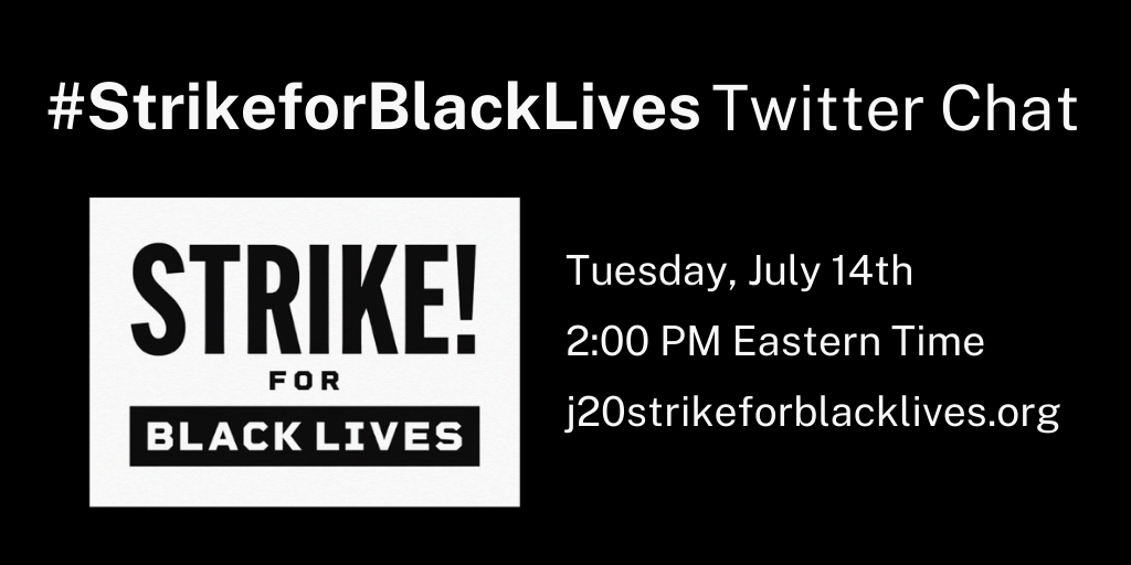 Because there is no economic justice without racial justice! #BlackLivesMatter #StrikeForBlackLives https://t.co/QUVMLas2Zd