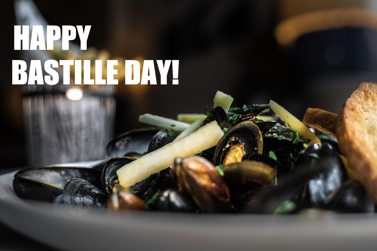 Happy Bastille Day  Join us for Bastille Day Moules Frites and Rose  Patio open Monday to Friday from 11:30am - 5:30pm  Tuesday, July 14th Bastille Day Special: A glass of @Miraval Rose and MoulesFrites  for $29.00 Bottle of Miraval $29  @laurentmanrique #French #BastilleDaypic.twitter.com/C3wBu0NAh8