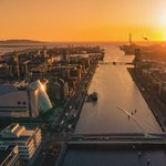 Image for the Tweet beginning: The classic #Dublin sunrise shot.