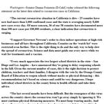 Image for the Tweet beginning: I support Governor Newsom's order