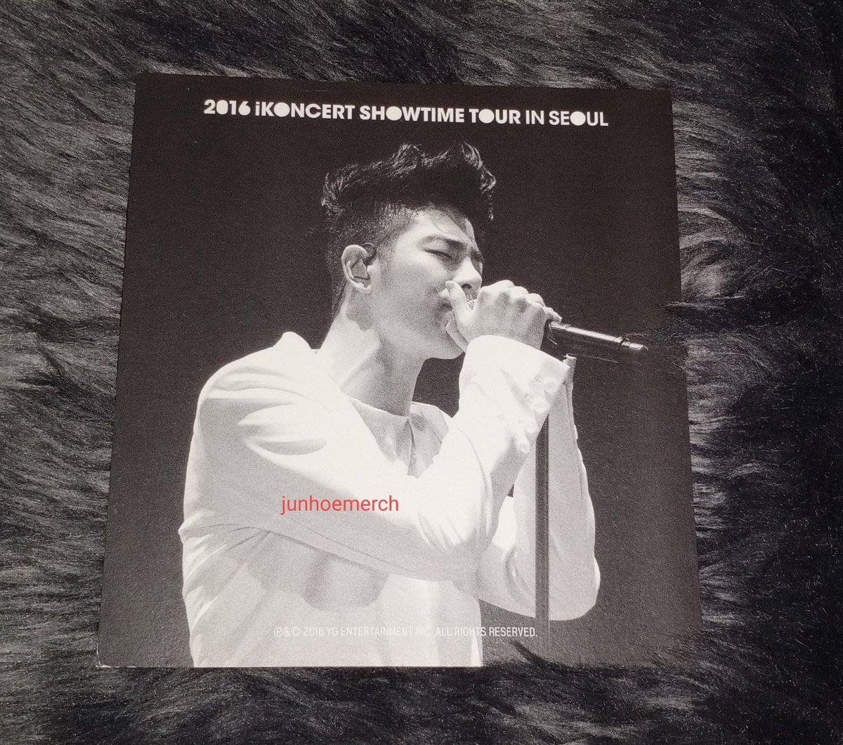 ♡ 2016 iKONCERT Showtime Tour in Seoul Junhoe Postcard ♡  @tkwpcnfak #iKON #JUNE #Junhoe