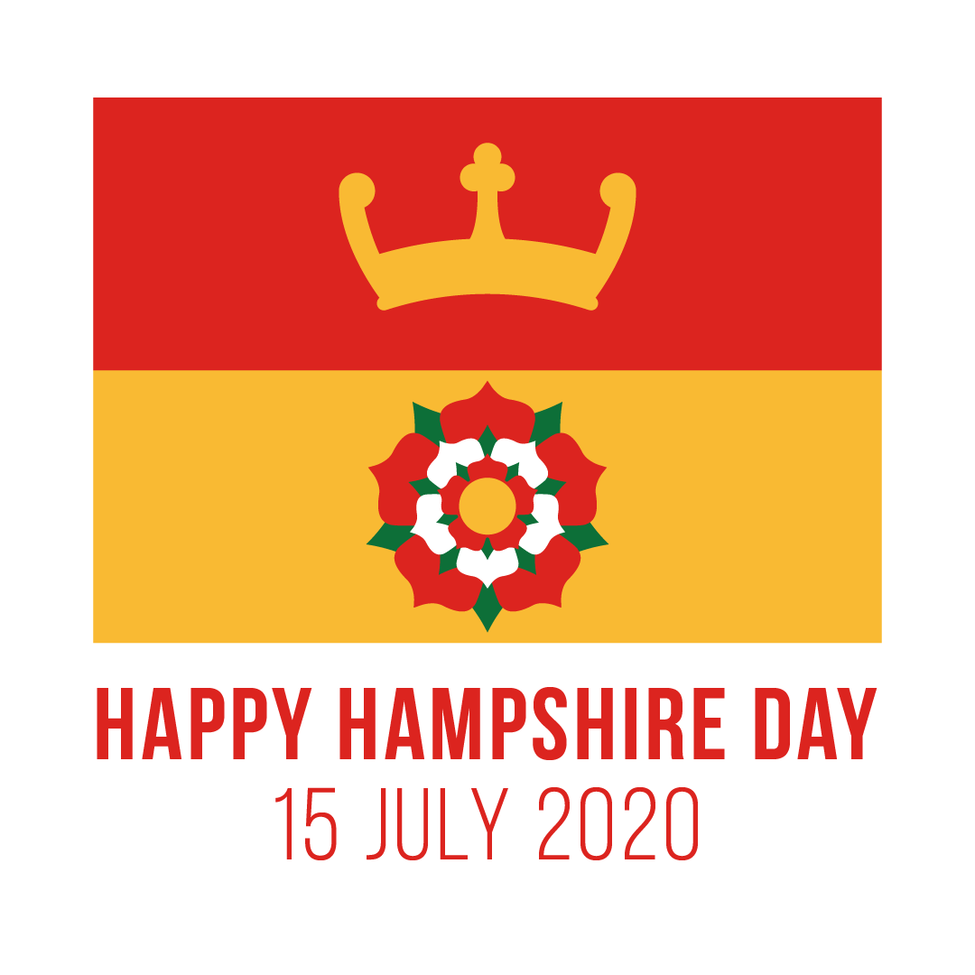 The Hampshire Flag signifies the county as a whole - with the design including a Saxon crown and a Tudor rose which, along with its red and yellow colours, have been associated with the county for centuries.  #hampshireday https://www.hants.gov.uk/News/130720hampshireday…pic.twitter.com/ndmrpob7qy