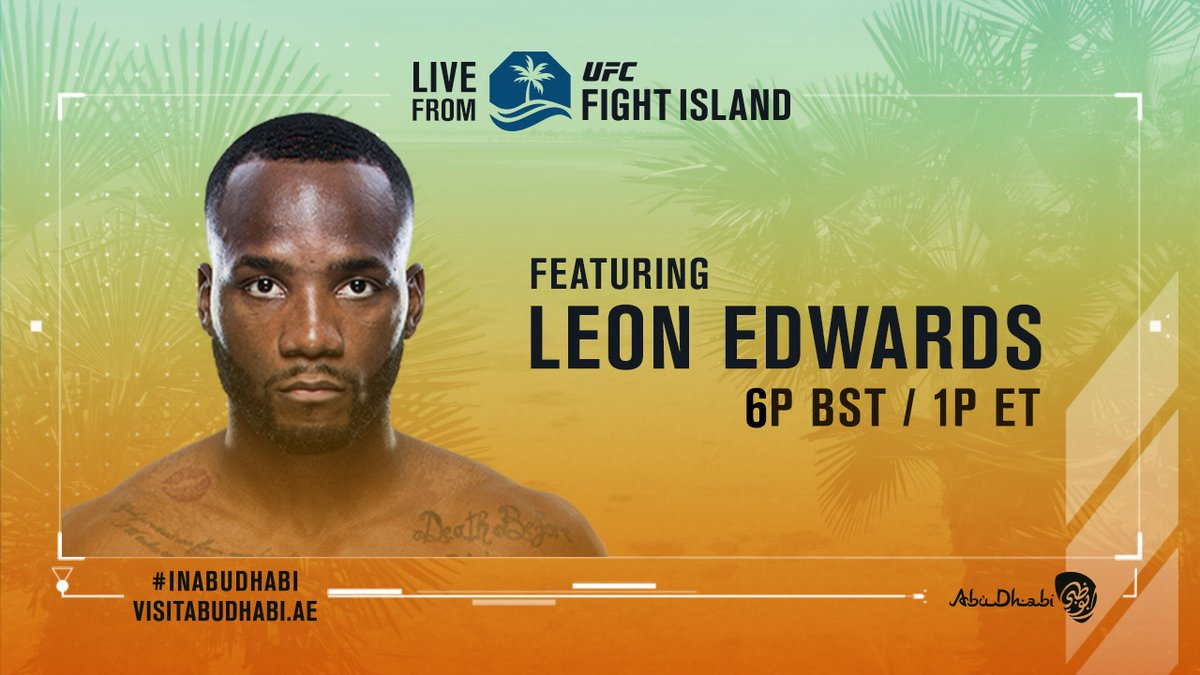 We are LIVE from #UFCFightIsland tonight on Facebook!  @JohnGoodenUK will be talking exclusively to @Leon_EdwardsMMA at 6pm BST! https://t.co/OtHFkYEv0M
