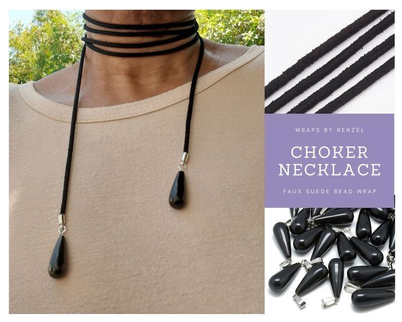 Faux Suede Choker Wrap Necklace with Gemstone Drop Beads https://t.co/KkFaw4k8Ze #Necklace #Choker #WrapChoker #Boho #Jewelry #Gift #ChokerNecklace #FauxSuede #Lariat https://t.co/M60EN9yOUF