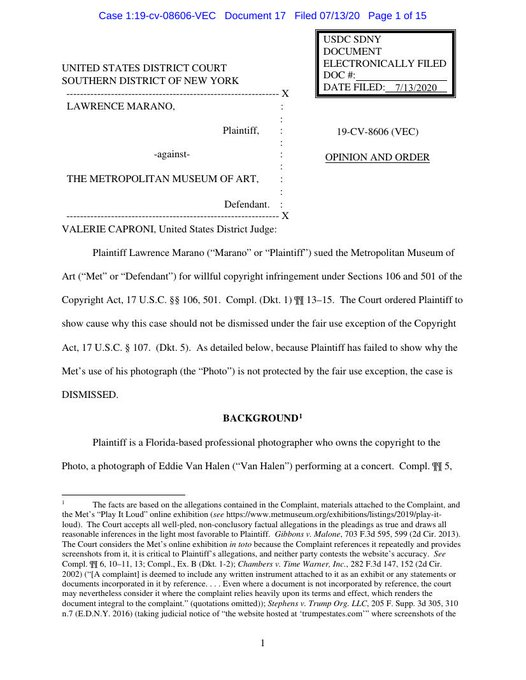 Liebowitz keeps making fair use precedent (for defendants): courtlistener.com/recap/gov.usco…