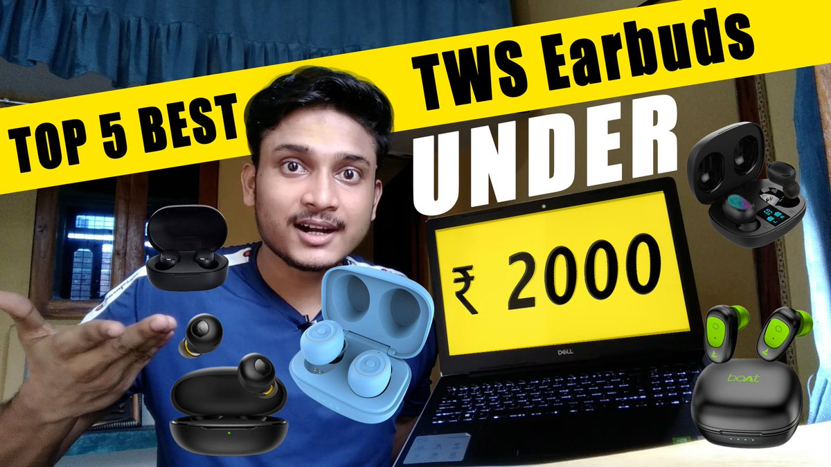 Top 5 Best TWS Earbuds Under 2000 [Truly Wireless Earbuds]  https://t.co/ryzSHMws0r #TWS #earbuds #Wireless #YouTubersReact #music #Gaming #tech #technology #YouTubers https://t.co/mbtMtDlqKz