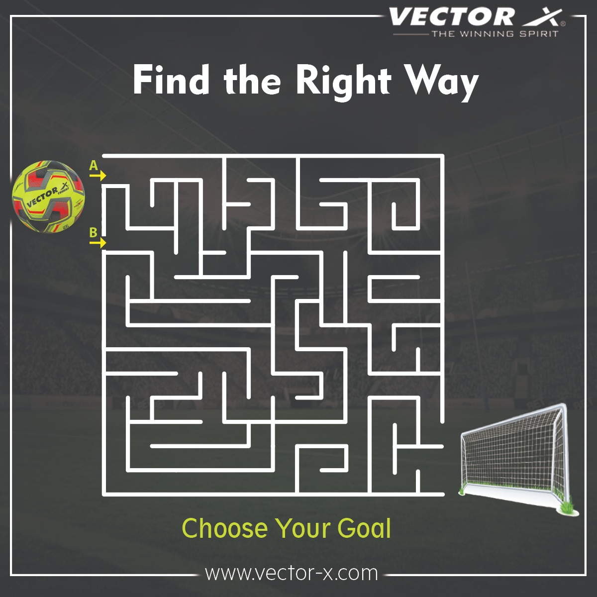 Puzzle Time!! Help the football to reach the goal. Leave your answers in the comments below. Also, Tag your Friends ⚽🤩  #SoccerPuzzle #game #gametime #VectorX #TheWinningSpirit #Bhaichungbhutia #goal #pushthegoal #XFactor #Football #footballtime #letsfootball #soccer #sports https://t.co/xGTFnq3Jqw