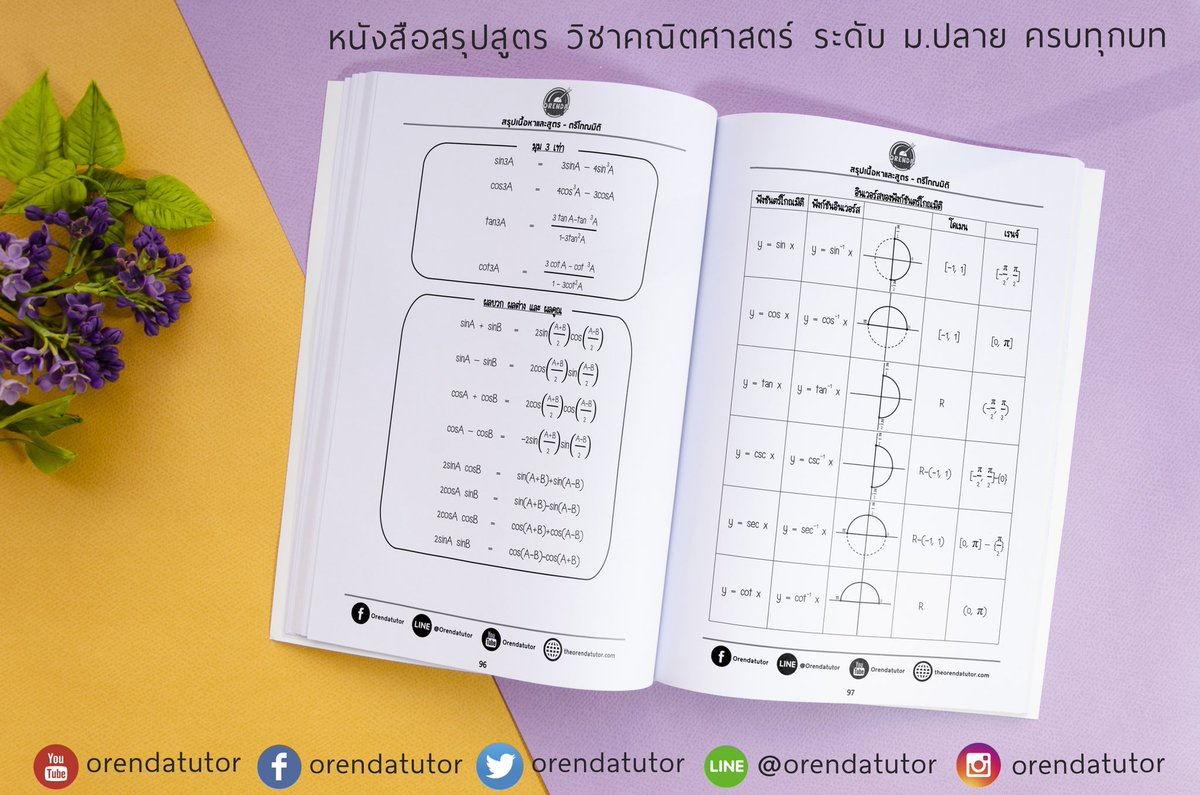 หนังสือรวบรวบสรุปเนื้อหา สูตร และเทคนิควิธีการ ในวิชาคณิตศาสตร์ระดับม.ปลาย มาไว้ในเล่มเดียว ราคา 300 บาท  สั่งได้เล้ยยย #dek64 #dek65 #dek66 #studygram #studygramthailand #คณิตศาสตร์ออนไลน์ #orendatutor #gatpat #pat1 #คณิตศาสตร์ #คณิต #สรุปสูตร #ติวเตอร์ #อ่านหนังสือ #math https://t.co/SCmHyQHkvO