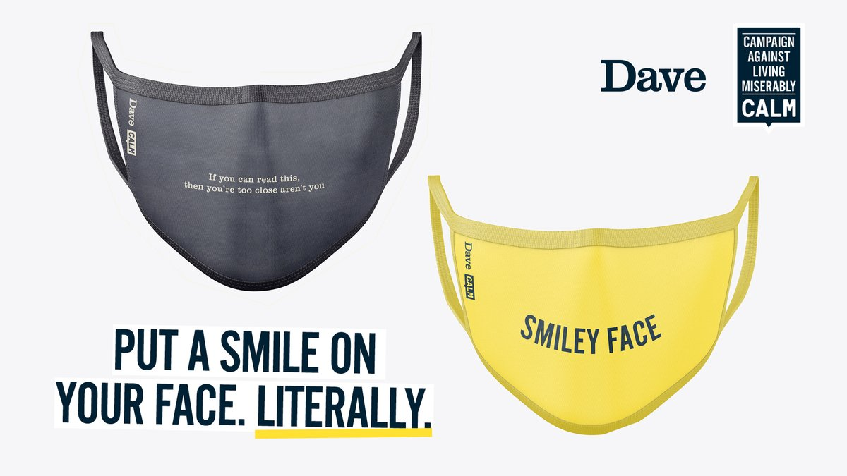 We thought wed bring back the Man Dictionary for today: MAN-DATORY Adj: Needing to wear a face mask in shops and that face mask generating vital funds for CALM's life-saving work. Get yours here 👉 thecalmzone.net/2020/07/masks-…