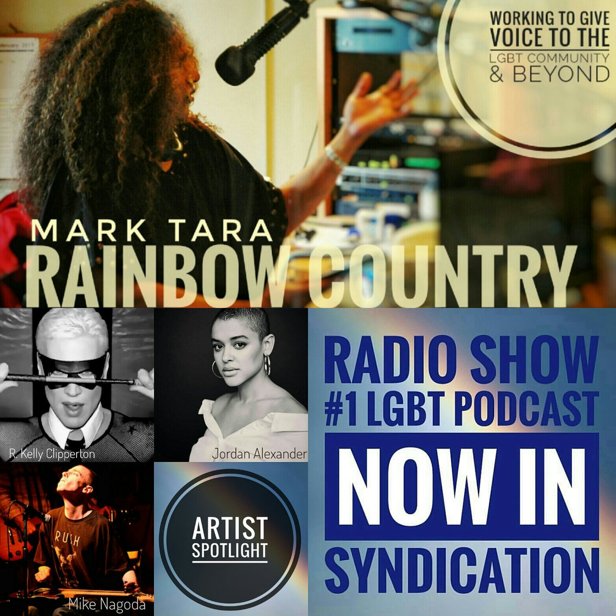 #RainbowCountry 5th Season LIVE TONIGHT EP 206 #ArtistSpotlight @RKClipperton @jordcalexander @mnagoda #GayPride @ColinHJohnson1 #Music @idreamdeep @VolleyPaul @djanddrums  8PM ET @Bombshell_Radio #Online 11PM ET @CIUT895FM #Toronto 8PM PT @CJUCFM #Whitehorsepic.twitter.com/qj6mYReRF8