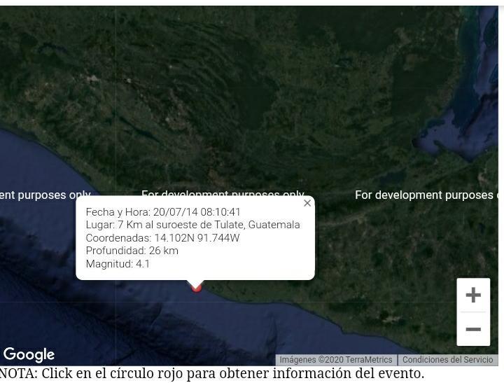 test Twitter Media - La @ConredGuatemala informa que de acuerdo con el Instituto Nicaragüense de Estudios Territoriales (INETER), a las 8:10 horas se registró un evento sísmico de magnitud 4.1 y epicentro a 7 kilómetros al SurOeste de Tulate, Retalhuleu. https://t.co/0OeYFNJk2Y