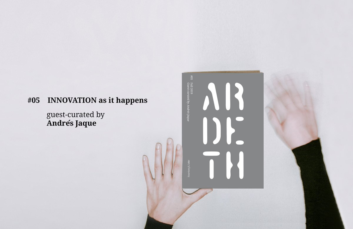Ardeth #05 is out! INNOVATION as it happens / Guest-curated: Andrés Jaque . Abstract: http://www.ardeth.eu/magazines/innovation/… . Buy: http://www.rosenbergesellier.it/scheda-libro?aaref=1369… . @PoliTOnews @polimi @iuav @SapienzaRomapic.twitter.com/jwNtjGdiJ7