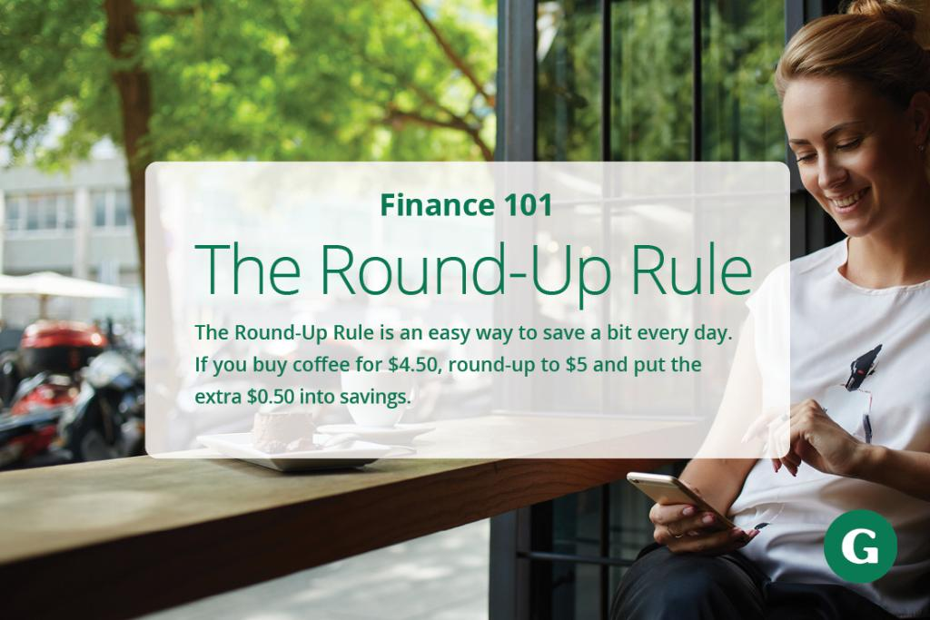 It may seem small, but over time, the Round-Up Rule can help you stash some extra cash away. Some banks even offer this as a feature for checking accounts. #RideWithTheGeneral