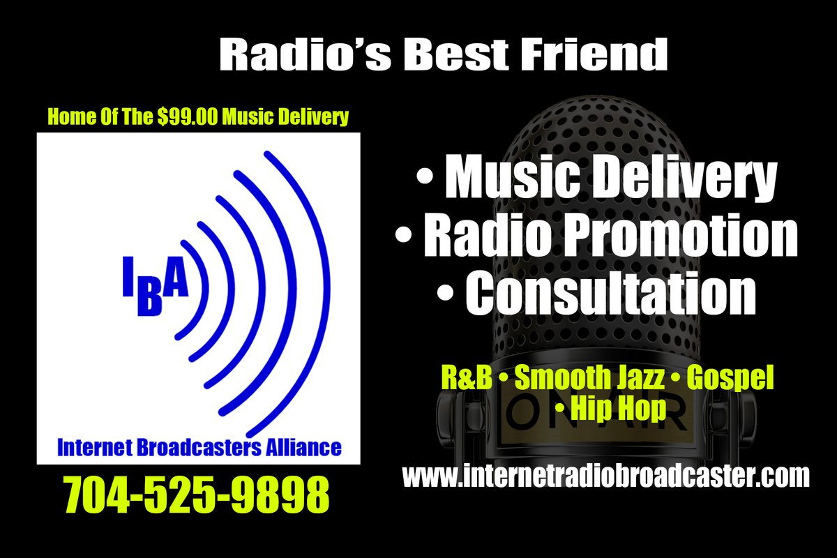 Ready to take your music game to the next level?  The Internet Broadcaster Alliance is the most affordable way to expose your brand and start to build you a True Fanbase!  Call today and see how we can help you  go to the next level 704-525-9898 #indieartist #infirmusicpic.twitter.com/CTDUvFKLjf