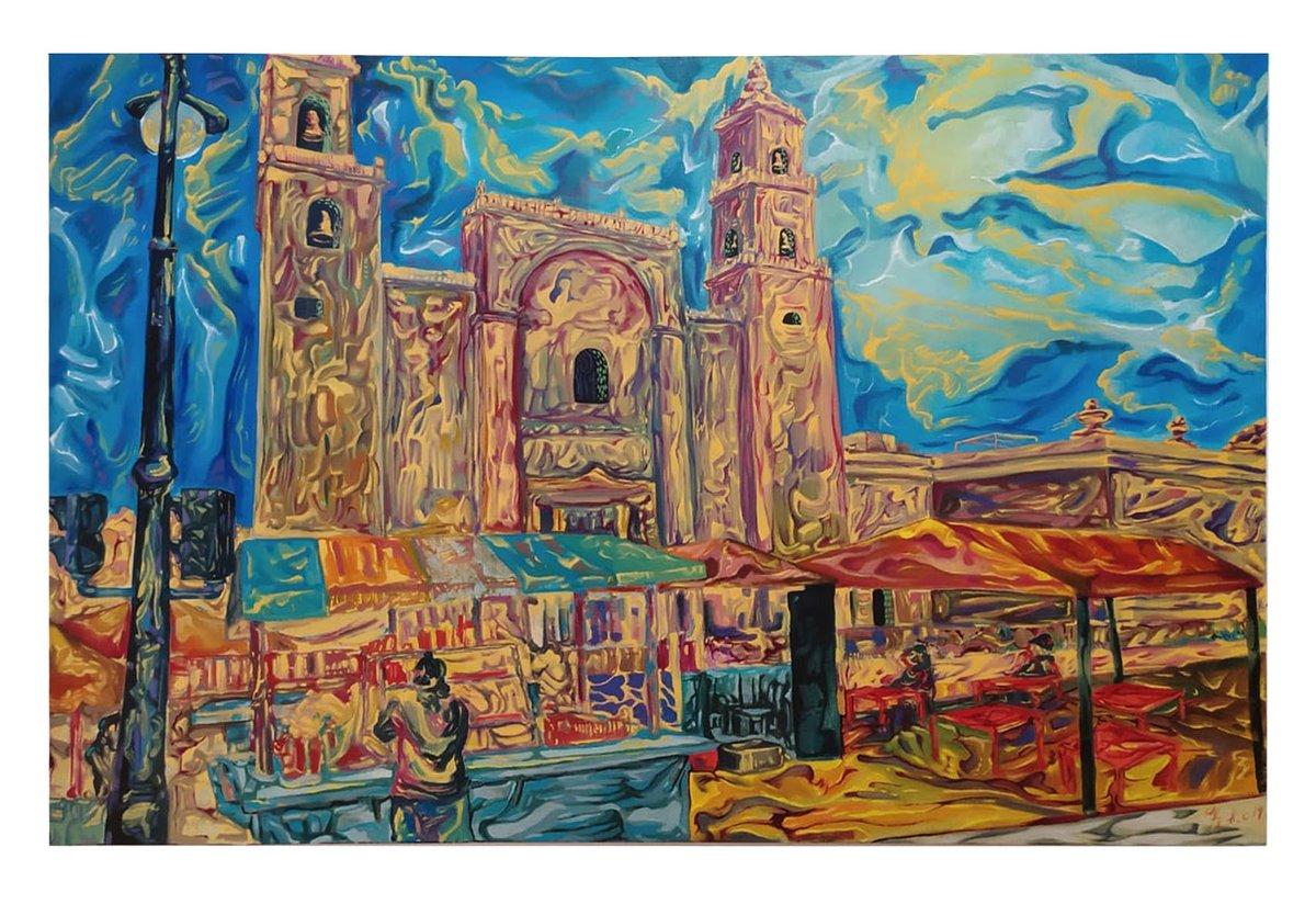 Mérida en domingo oleo sobre lienzo 120cm x 90cm  #art #arte #Abstract #abstractartist  #Merida #Yucatan #colors #artwork #artgallerypic.twitter.com/GrNOMK7fw3