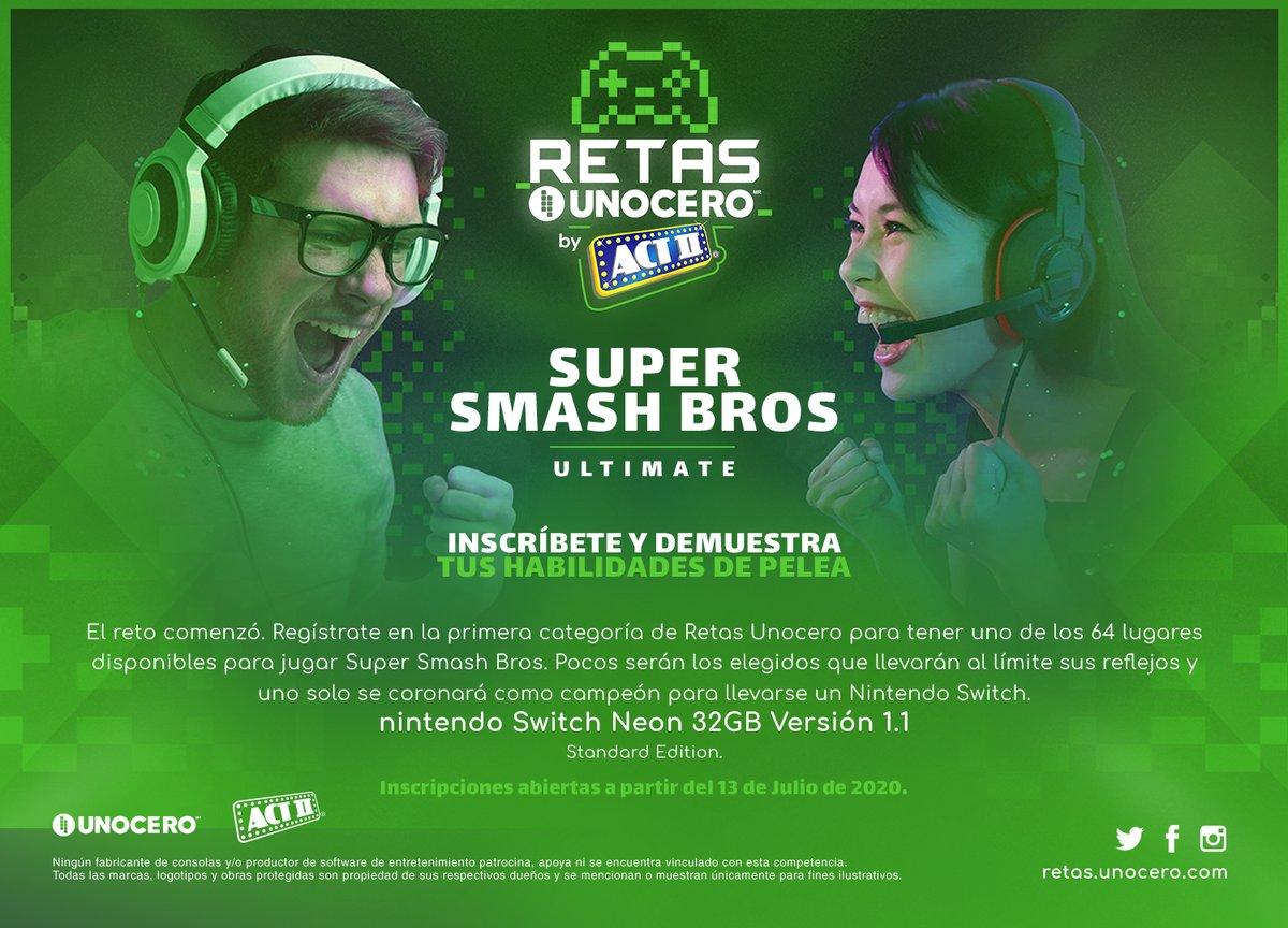 Demuestra tus mejores técnicas de combate. Estamos buscando a los mejores jugadores de Super Smash Bros. ¡Regístrate en #RetasUnocero!  https://t.co/fHVn1YSPyB https://t.co/E8A3Hf7NC9