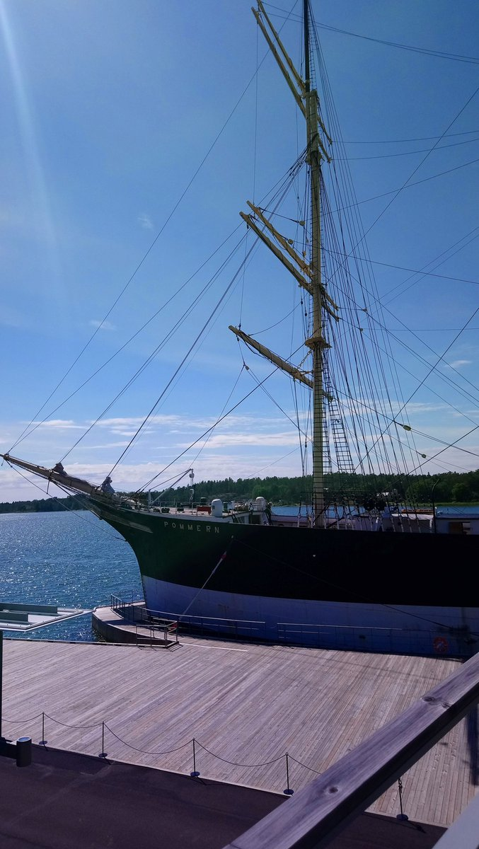 First day at the Åland Islands. Four-masted merchant sailing ship Pommern and coffee at Stickstugan Hantverk & Cafe. My kind of holiday! #doitinfinland  #RestartTourism @visitaland https://t.co/W5WvRhyP3F