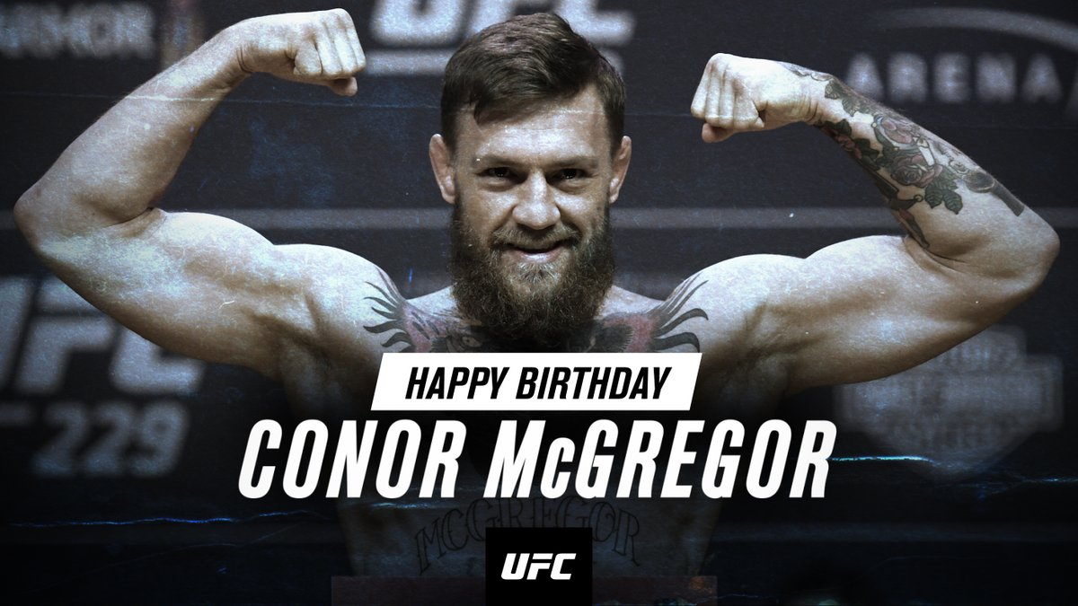 N O T O R I O U S 🇮🇪  RT to wish @TheNotoriousMMA a Happy Birthday! https://t.co/v0PNDIgHrv