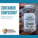 Image for the Tweet beginning: 🧴CONTAINER CONFUSION?🧴 Hand sanitizer seems to
