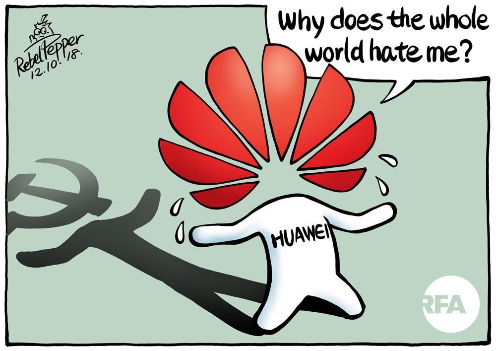 The truth about #Huawei, in case you're still not aware.  #BoycottChineseProduct and stop the spread of #CCPVirus. https://t.co/07RRyTy7KA