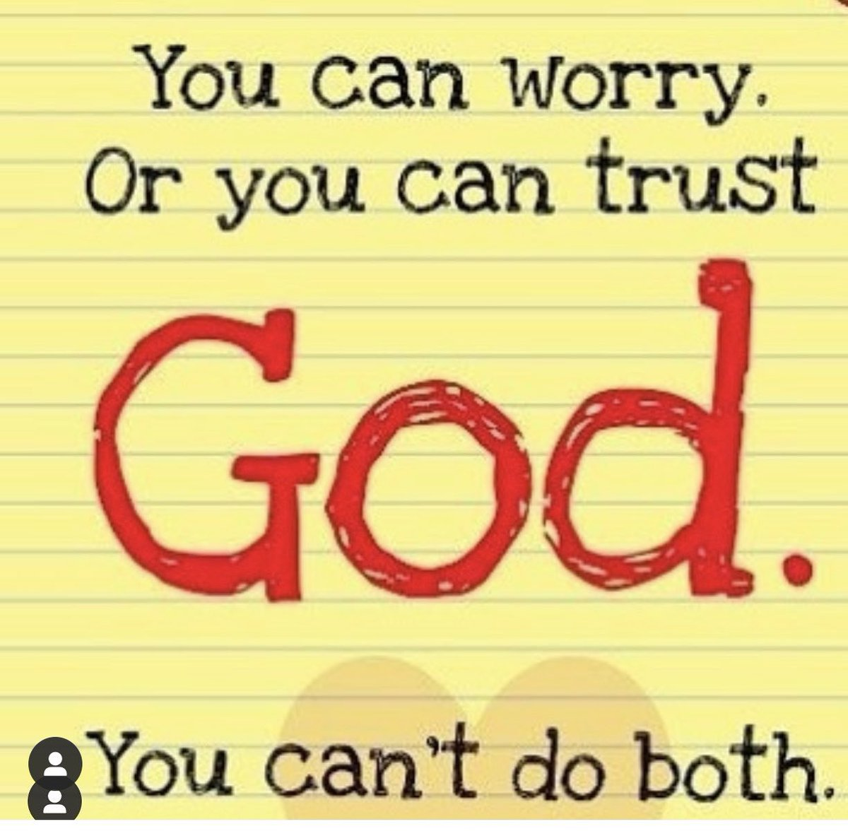 So much uncertainty creates so much anxiety . I don't know about you but I choose to TRUST God today and hand my worry over to HIM 🙏