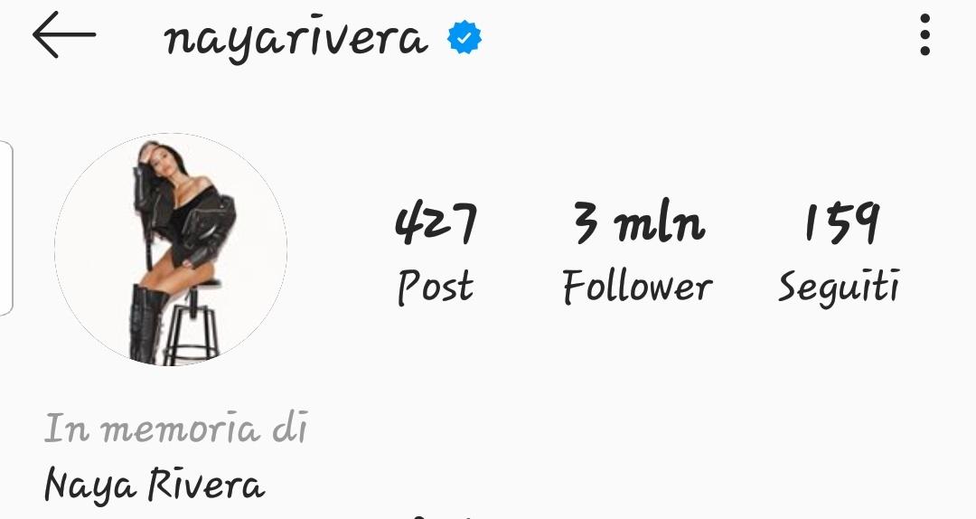 #RIPNayaRivera