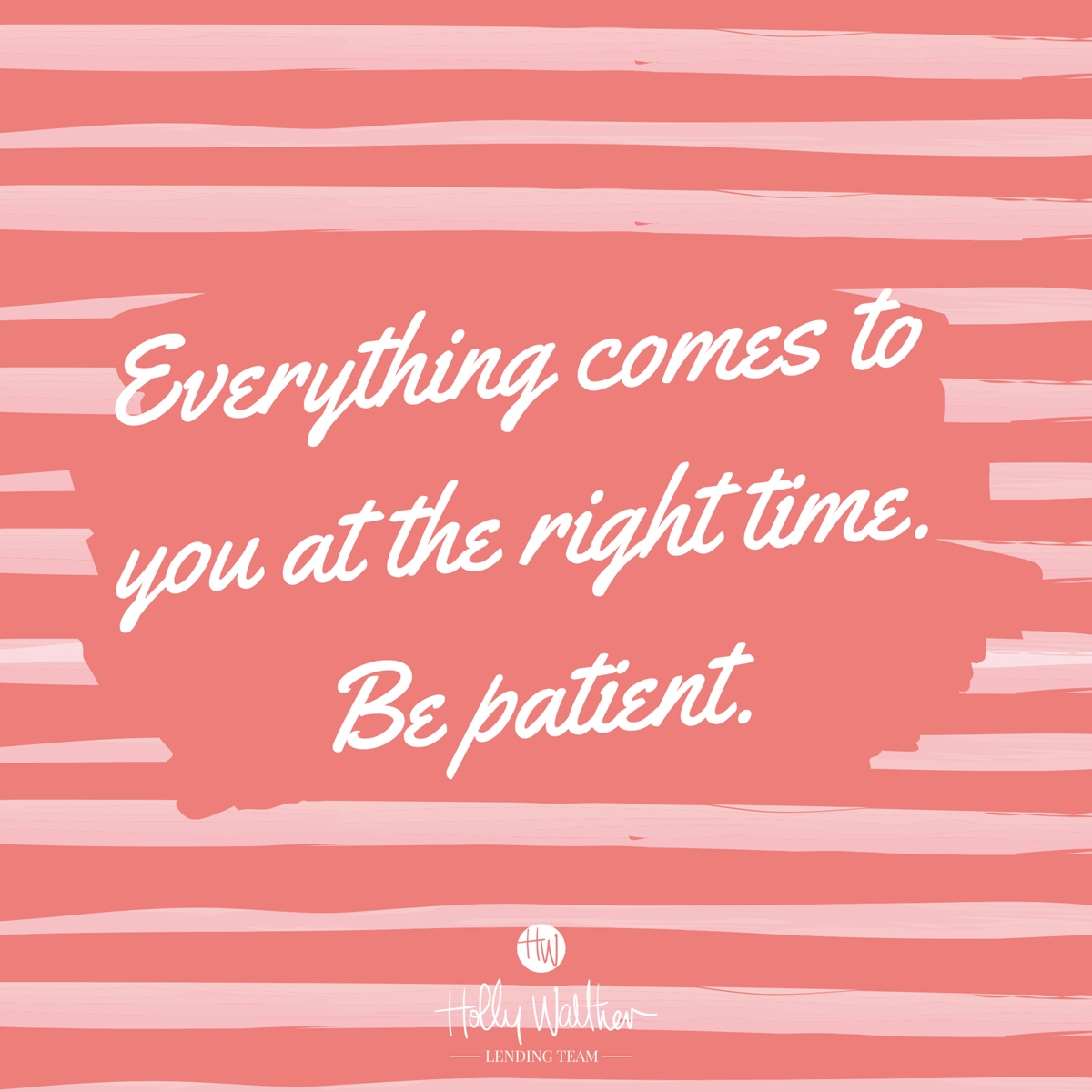 If you are waiting for something, be patient! It will come to you at just the right time.  #lender #realtor #quotestoliveby #quotes #bestoftheday #love #motivation #happy #loveyourself #inspirationalquotes #quoteoftheday #quote #quotesaboutlife #bossbabe #bosslady #bosslife