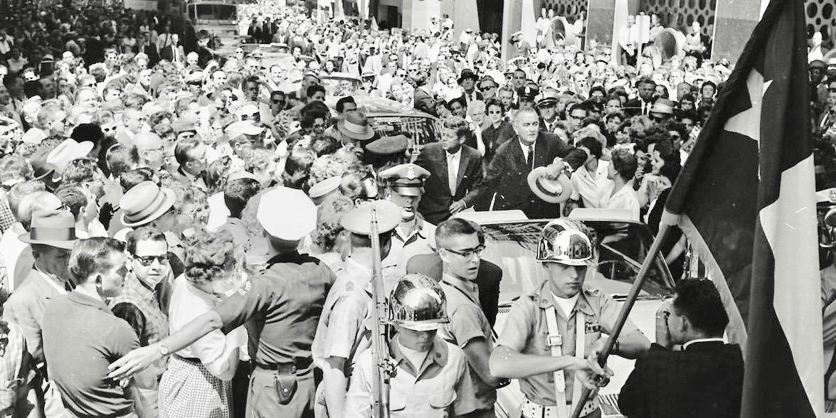 JFK and LBJ together in Dallas motorcade, September 1960, amid 175,000 spectators: #DMN