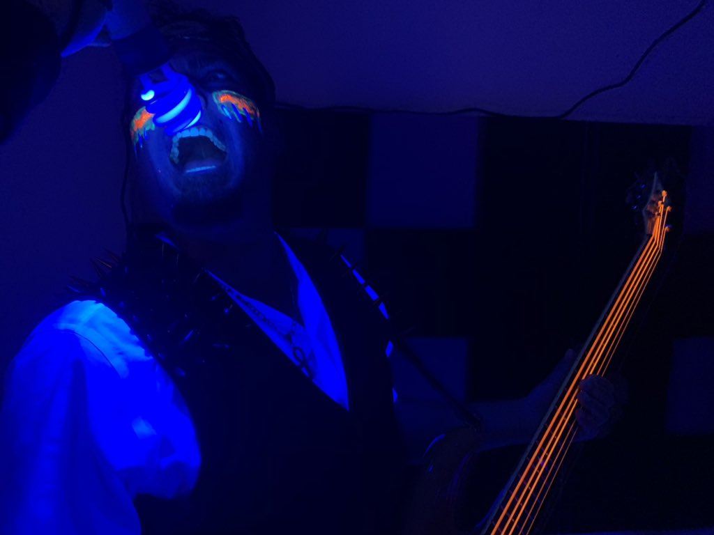 Nick Rage is super pumped as our video is coming along very nicely! We should have this bad boy ready for all of you in no time 💀  #musicvideo #newvideo #bassplayer #bassist #punkrock #hardrock #dark #lights #death #love #blacklight