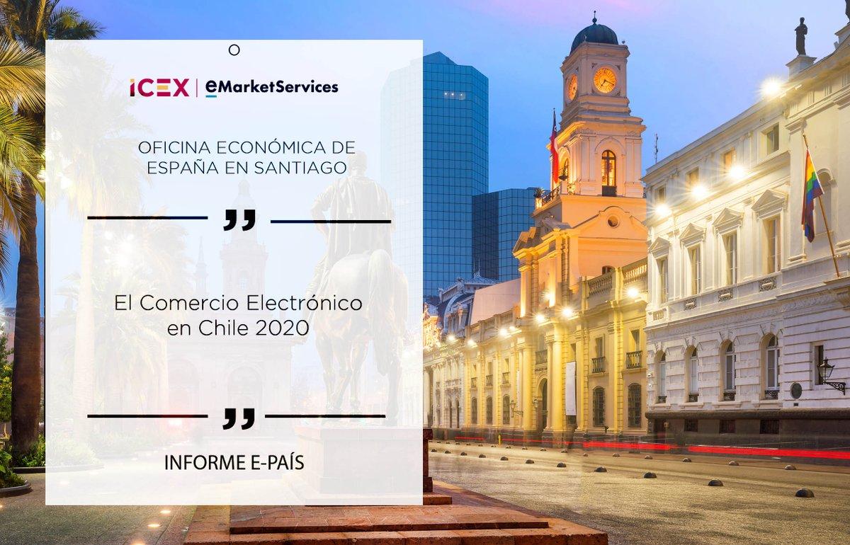 ¿Sabías que el #ecommerce transfronterizo en #Chile ha tenido un desarrollo acelerado en los últimos años? Descubre toda la información de este país en el nuevo informe #Epaís2020 elaborado por @ICEXChile  Entra en el linkhttps://bit.ly/2BZIf11pic.twitter.com/YaUQNTUt68