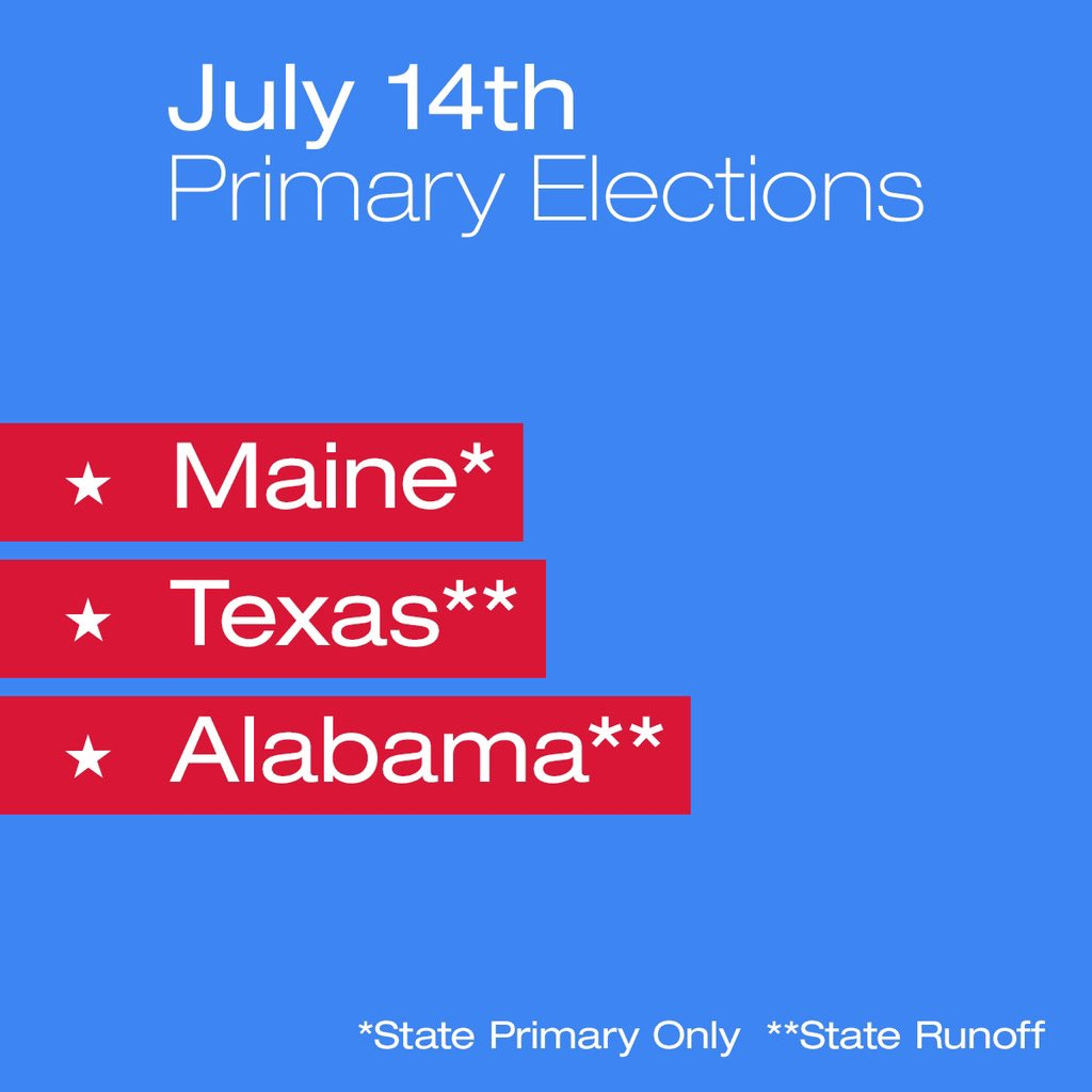 Come on, Maine, Texas and Alabama! Go vote! https://t.co/7oX06FcD4i