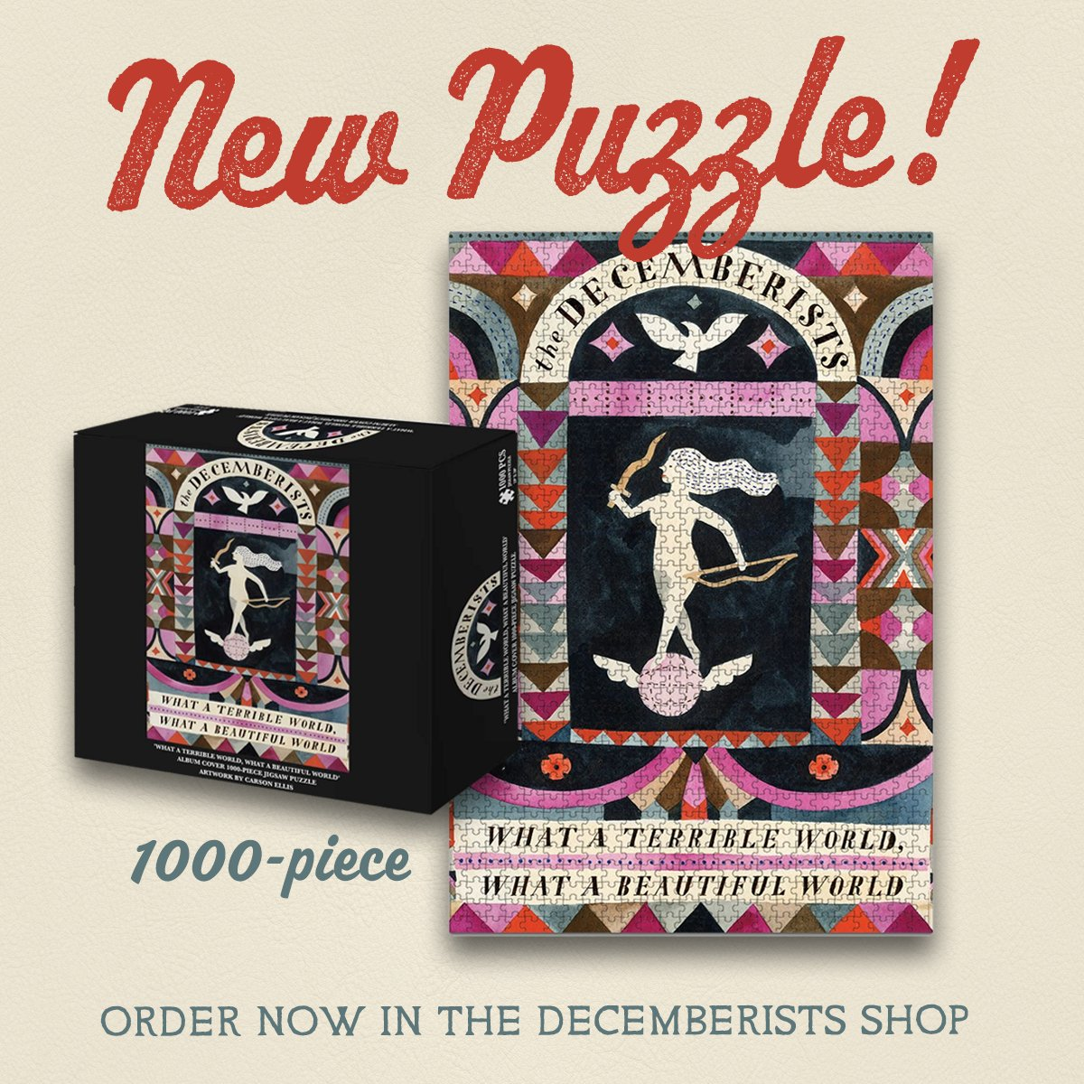 New items up in the Decemberists shop 🧩 Free shipping on all orders $75+ --> https://t.co/8uSb3iAS30 https://t.co/lJAHv4ZHa0