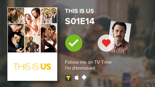 I've just watchedd episode S01E14 of This Is Us! #thisisus  #tvtime https://t.co/Q5ry2AesWC https://t.co/OUxd1pOmN4