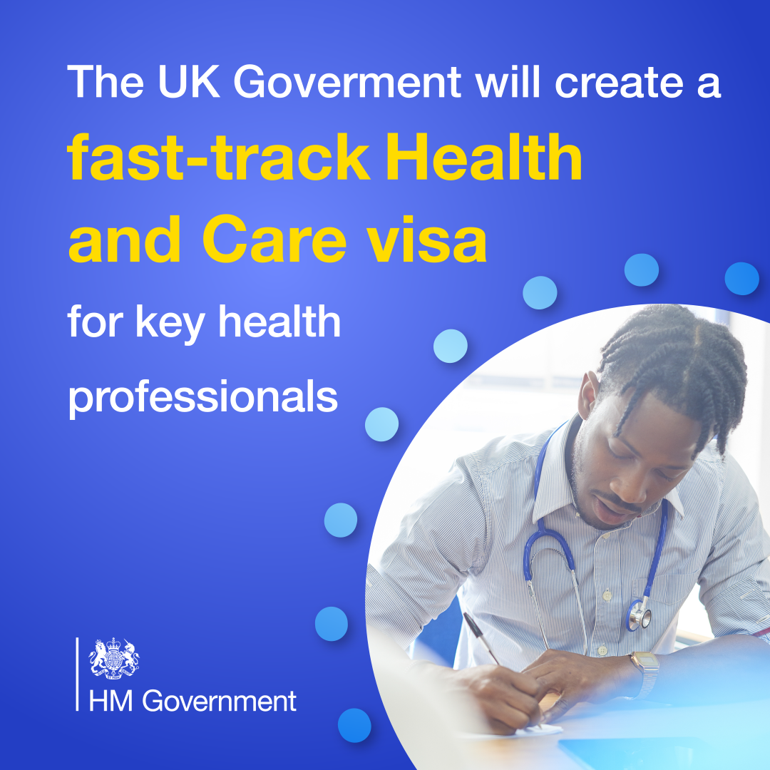 A new health and care visa will be launched to: ✅Create a cheaper and quicker route to the UK for eligible health and care professionals 🌏This will ensure we have access to the best global talent in the NHS Read more👇 gov.uk/government/new… @ukhomeoffice | @NHSEngland