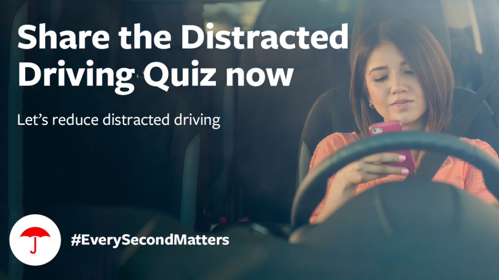 True/False? Using a phone while driving is much safer when you use a hands-free device. Take the quiz. http://tkpl.us/feh3u pic.twitter.com/c5Af46egst