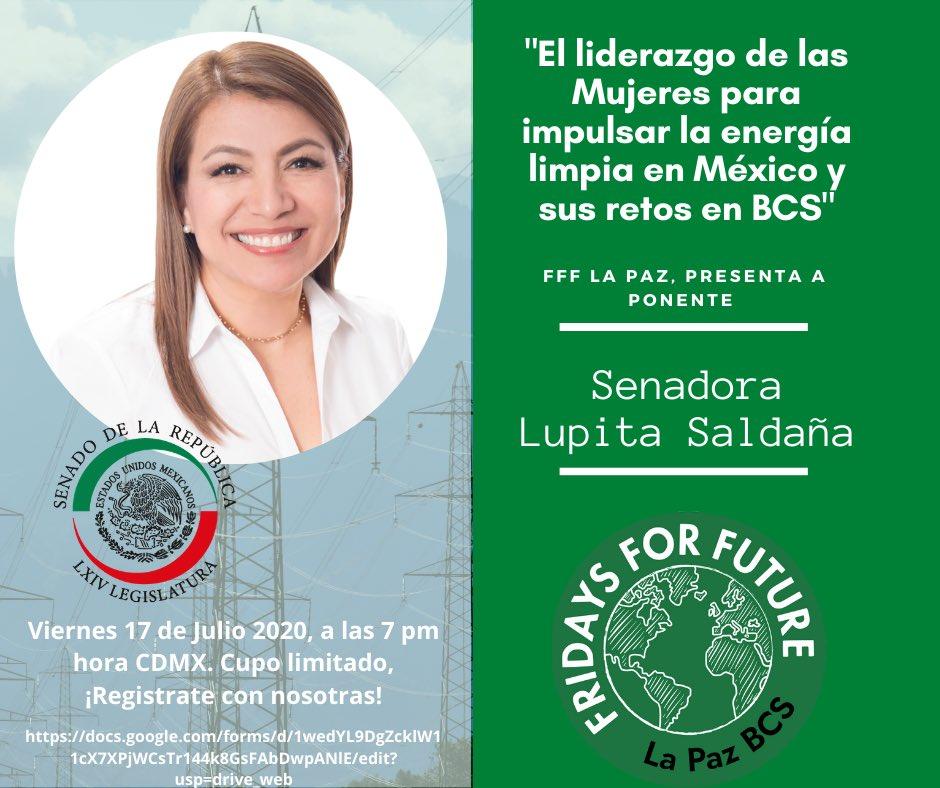 """Nos complace anunciar nuestro primer conversatorio con el tema : """"El liderazgo de las mujeres para impulsar la energía limpia en México y sus retos en BCS.""""   Viernes 17/julio/2020  Hora: 18:00 La Paz, 19:00 CDMX. pic.twitter.com/jLRD6whHWi"""