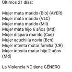 Image for the Tweet beginning: La violencia no tiene género.