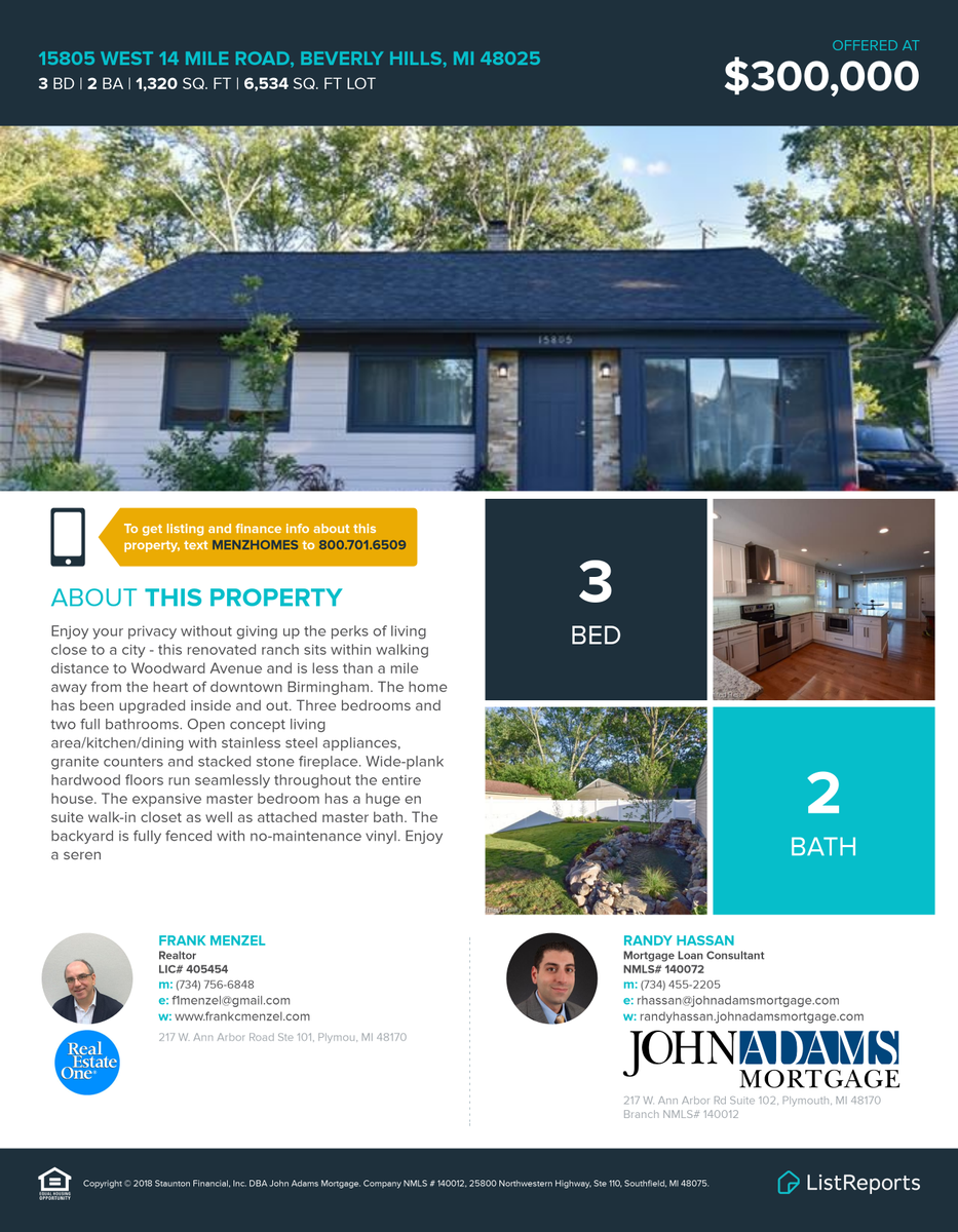 Hot new ranch, just 1 mile from downtown Birmingham, on the market today!! https://t.co/n1f0ZgVT8Y