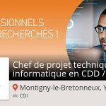 Image for the Tweet beginning: Besoin d'un #Chef de projet