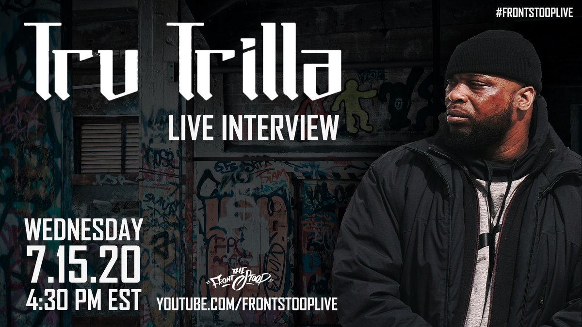 "Wednesday, 7/15 at 4:30 PM est. Tru Trilla @egofree2_050 will break down his new album ""God of Barz"" Live on Youtube - https://youtu.be/wgPQ9ZWO2tI  @NewDawnRecs @urbanelitepr   #frontstooplive #indiehiphop #hiphopmusic #independentmusicpic.twitter.com/YfCTGIwNW5"