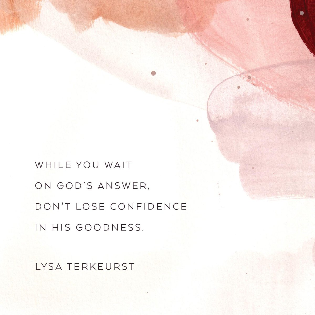 I know how hard it can be to wait on God when you want to move forward and you're seeking His guidance. But while you wait on His answer, dont lose confidence in His goodness. Be strong. Be patient. Cling to His Word. And keep trusting in His unfailing love.