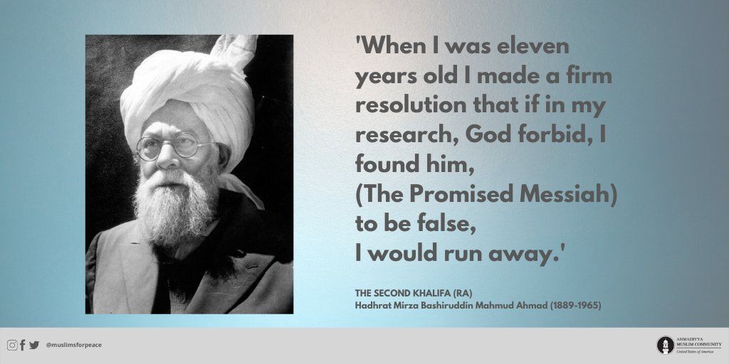 #Islam #Ahmadiyya emphasizes being a #Muslim by choice, not by accepting whatever ancestral beliefs, customs and practices one has habitually received as heritage. One should not adopt them until they appeal to their intellect and become instilled in their heart. #mondaythoughts pic.twitter.com/ir8UGqbI28