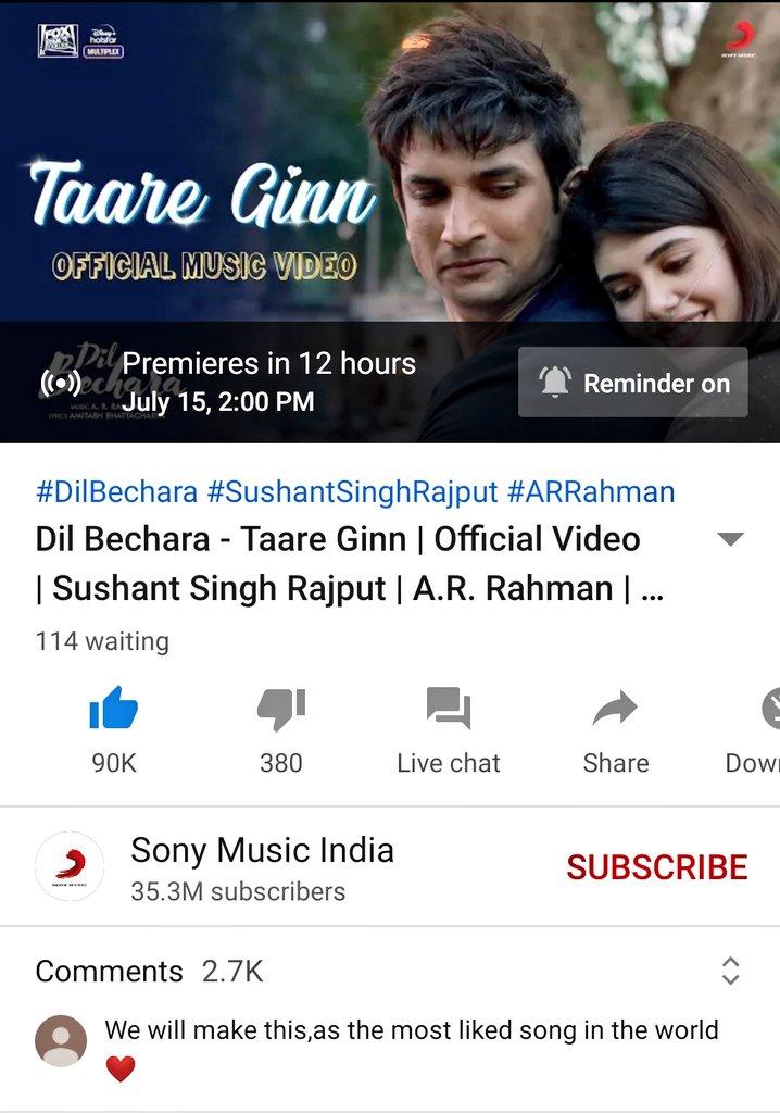 COUNTDOWN Begins- 9 days to go #DilBechara  Dil Bechara Album,honestly the best music album ever in Bollywood,gonna break all records #TaareGinn gonna rock the world, Sabhi log reminder on kiye ho na#SushantSinghRajput #DilBecharaalbumpic.twitter.com/BoMy2S5exc