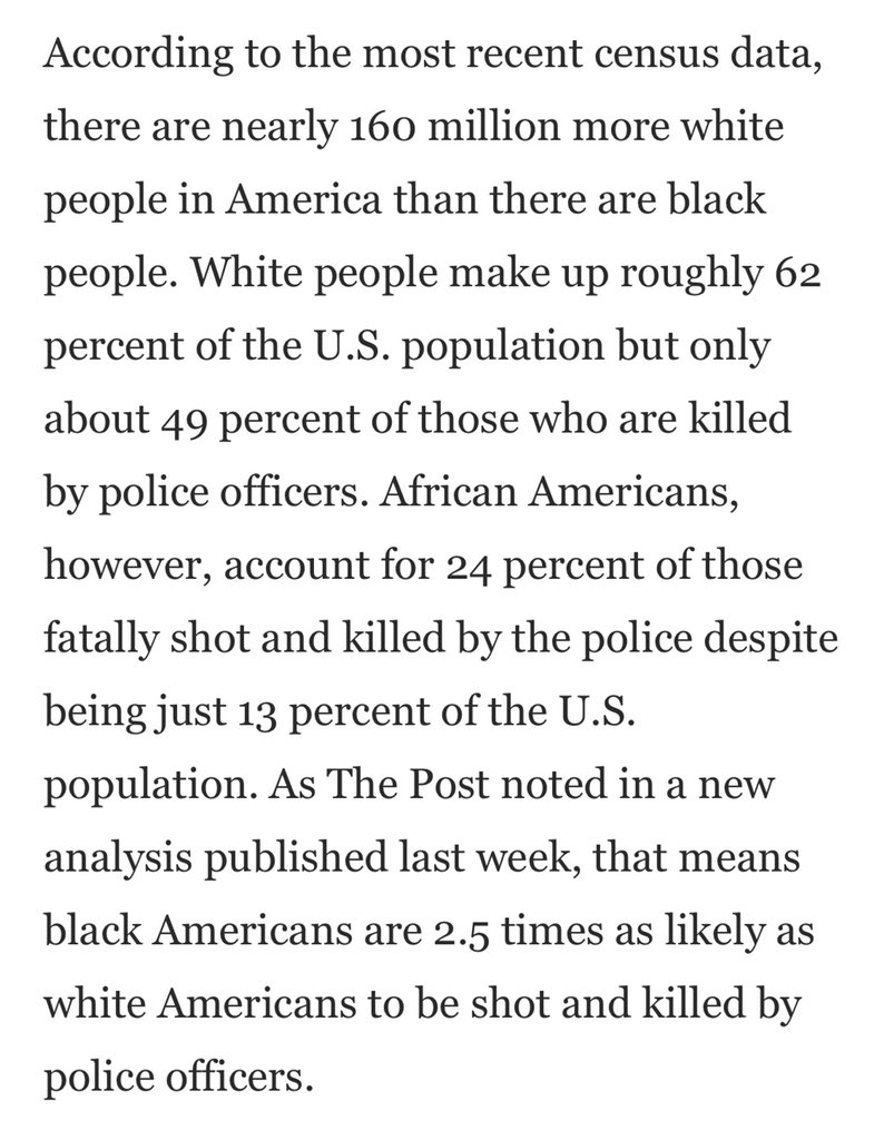 Because we know that Trump's simplistic & deliberately misleading comment will be repeated ad nauseum & w/o explanation, let's be clear. And this from 2016 is just fatal shooting - doesn't include choking, beating or tasing to death. washingtonpost.com/news/post-nati…