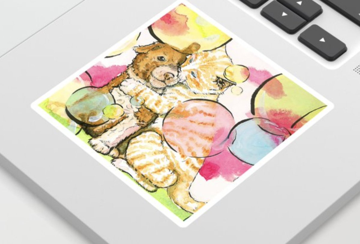 Love Bubbles- sticker is available on #society6 This week get up to 30٪ off products on Love Bubbles #artwork #artistsontwitter #artsale #shopping #artshop #sticker #Kitty #puppy #puppylove #friendshippic.twitter.com/wS2LIL0hlX