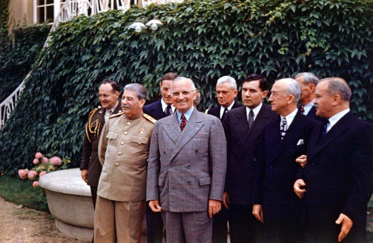 Stalin and Truman at Potsdam, 75 years ago this week: #NARA