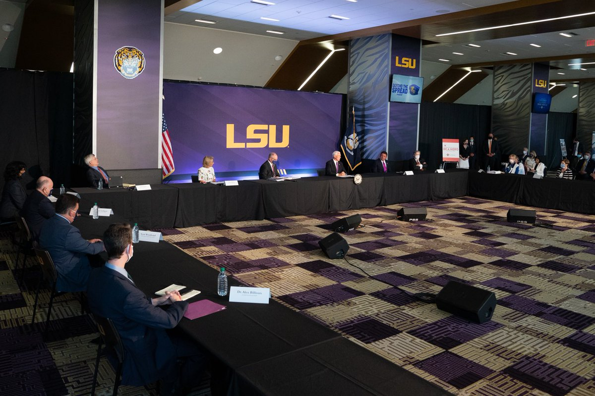 Thank you to @Coach_EdOrgeron and Louisiana Higher Education Leaders for a productive discussion today at @LSU on reopening America's schools. It's important we find a path forward for reopening schools this fall and get students back in the classroom so they can learn & thrive. https://t.co/qbvImqAjHL