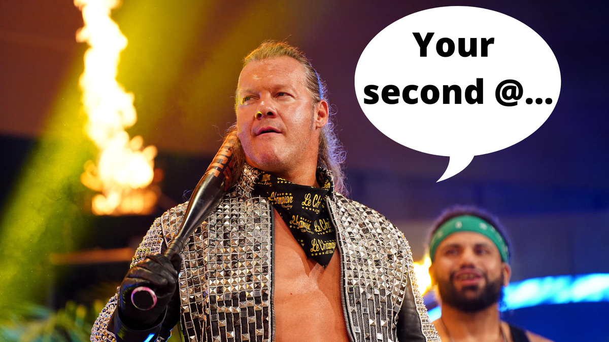 Apparently @IAmJerichos got something to say on #Dynamite tomorrow. If he were talking to your second @, what would he say?